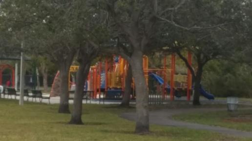 9 Children slide & playing field
